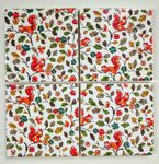 4 Ceramic Coasters in Cath Kidston Squirrels and Autumn Leaves